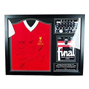Liverpool F.C. 1977 European Cup Winners Signed Shirt (Framed) Official Merchandise by Allstars