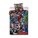 Avengers Super Heros Bettwäsche, 100% Baumwolle, Wendebettwäsche, Bettbezug 140°x°200°cm+ Kissenbezug 70°x°90°cm