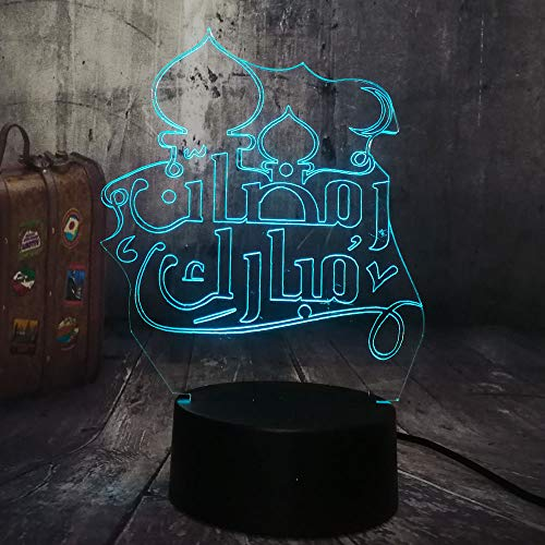 Islam Blessing Best Wishes Greetings 3D Night Light Lámpara...