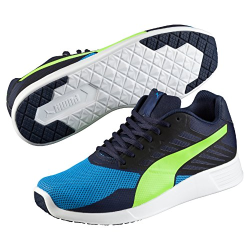 Puma St Trainer Pro, Baskets Basses Mixte Adulte Bleu - Blau (peacoat-safety yellow 04)