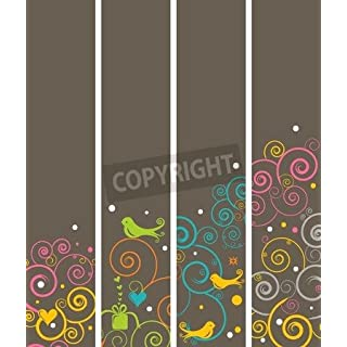 adrium Set of 4 Vertical Banners or Bookmarks (6226124), Canvas, 80 x 70 cm