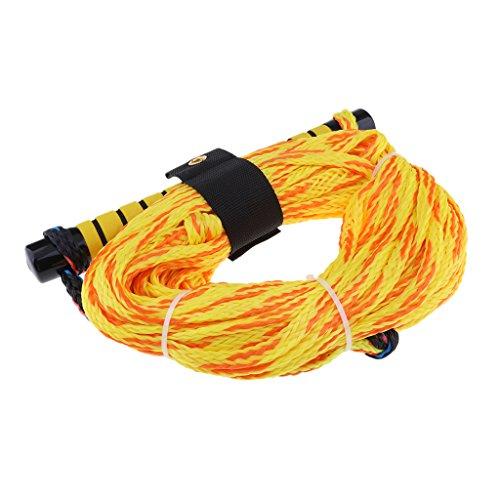 D DOLITY Wasserskileine 23 Meter 75ft Wasserski Leine Wakeboard Seil Hantel Rope - Gelb Farbe *