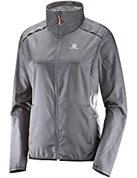 Salomon Agile Wind JKT W - Chaqueta, Mujer, Gris - (Forged Iron)