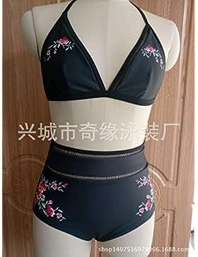 Moderno y cómodo bikini swimsuit _ moderno y cómodo bikini swimsuit _ cintura alta pequeña flor moderno y cómodo...