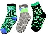 Nike Crew Socks 3P Immagini, Ragazzo, Spring Leaf (0116) / Grey/Volt/Blue