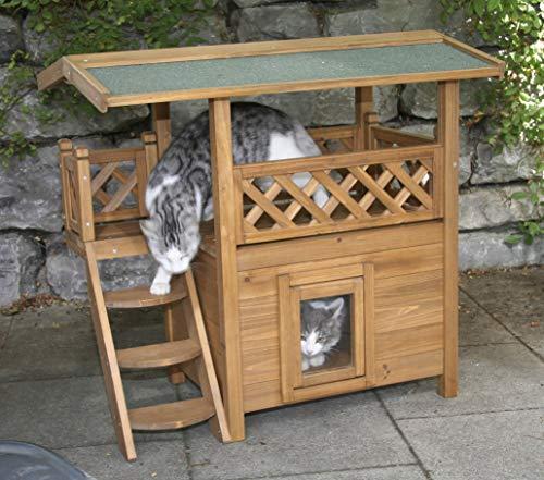 Kerbl Katzenhaus Lodge aus Holz - 4