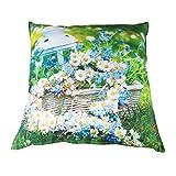 Dekokissen Outdoor 45x45cm Rosen Margeriten Tulpen wasserabweisend Kissen Garten, Design:Margeriten