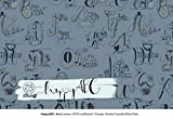 Lillestoff - Happy ABC HELLBLAU Kombistoff - Jersey Bio ***