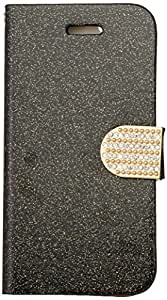 Zizo iPhone 6 Glittery Horizontal Stand TPU Wallet Pouch with Magnetic Diamond Flap - Retail Packaging - Black
