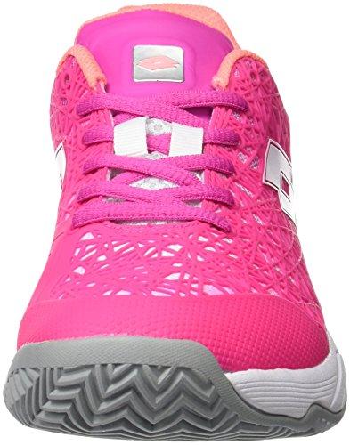 Lotto Viper Ultra Iii Cly W, Sneakers basses femme Coloris variés (multicolore / fuchsia fluo (fuxia fluo) / blanc)