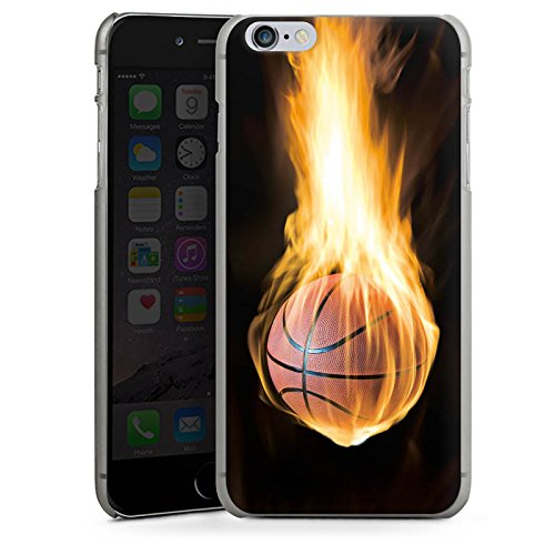 Apple iPhone X Silikon Hülle Case Schutzhülle Basketball Feuer Flammen Hard Case anthrazit-klar