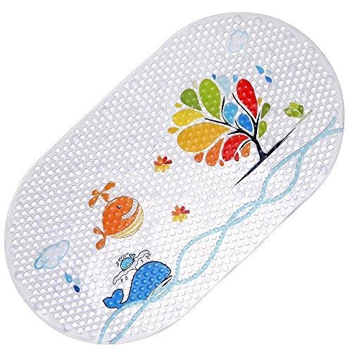 Rutschfeste Badematte Kinder PVC Anti-Bakterien Anti-Rutsch-resistente Badewannenmatte mit Saugnäpfen- Badewannenmatte auch für Babywanne geeignet Von SHARLLEN