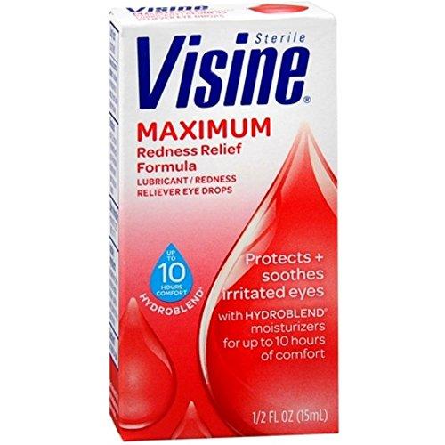 Visine Maximale Rötungen Augentropfen 1/2 Unze 3er Pack