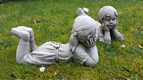 Statuette di bambino e bambina statuette di gesso ornamentali da giardino statue sculture - Il giardino di gesso ...