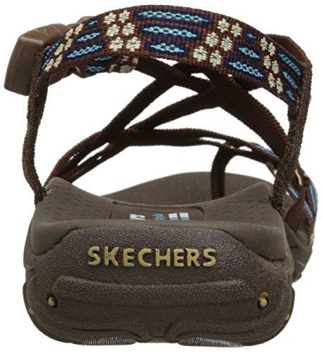 Skechers Reggae-Zehe-Ring Sandale Braun