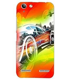 PrintDhaba CONCEPT CAR D-6145 Back Case Cover for LENOVO LEMON 3 (Multi-Coloured)