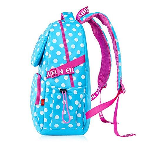 BOZEVON Wasserdichter Rucksack für Kinder Unisex Schultaschen Jungen Mädchen für Reisen, Wandern, Sport Blau #8117