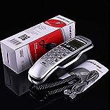 ZfgG Festnetztelefon an der Wand Wandtelefon zur Wandmontage Anrufer ID Mini-small Extension (Farbe : Silber)