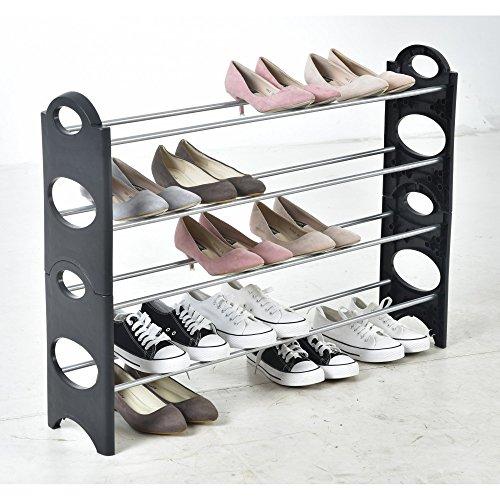 Scarpiera salvaspazio scaffale a 4 ripiani capazita fino a 20 paia di scarpe scaffali portascarpe cabina guarderoba 90x20x64 cm