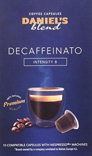 Daniels blend caffe compatibili con macchina nespresso decaffeinato - 1 pacco da 100 capsule