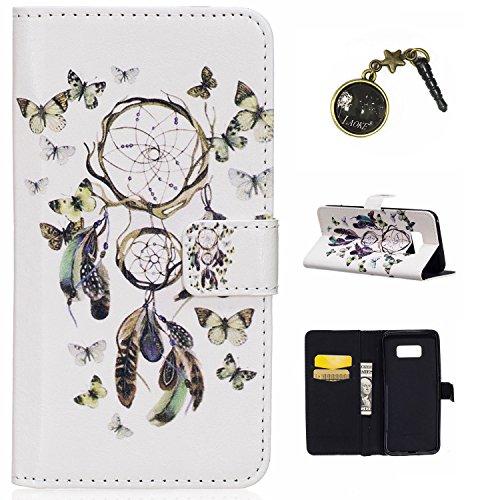 Preisvergleich Produktbild Galaxy S8 Plus Case Leder Tasche Case Hülle im Bookstyle mit Standfunktion Kartenfächer für (Samsung Galaxy S8+ / S8 Plus (6,2 Zoll) Hülle +Staubstecker (11)
