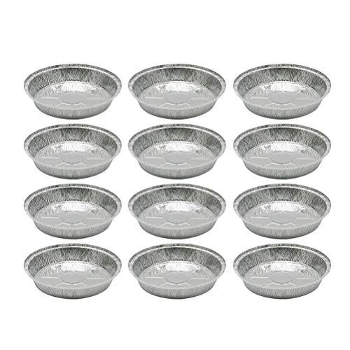 UPKOCH 12 Stück Aluminiumfolien-Kuchenformen Einweg-Blechschalen zum Backen Braten Grillen Kochen Kochen (ohne Deckel)