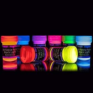Amazon Glow In Tje Darl Black Light Face Paint