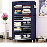 Glancestore Wardrobe Organizer for Clothes,Storage Rack for Kids and Women, Clothes Cabinet, Bedroom Organiser with 6 Layer,C