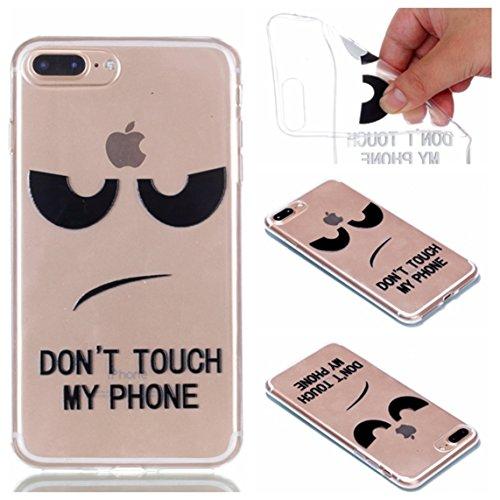 iPhone 7 Plus Hülle, Voguecase Silikon Schutzhülle / Case / Cover / Hülle / TPU + PC Gel Skin für Apple iPhone 7 Plus 5.5(Blau Blumen/Schmetterling) + Gratis Universal Eingabestift Weiße/my phone