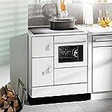 Haas + Sohn Horno ha 75,5a (Color Blanco, con placa de cocina (de acero, Back Tubo y humo Tubo Conector Derecho