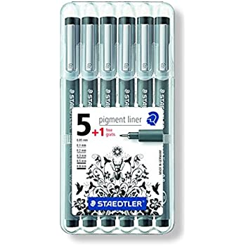Pigment Liner STAEDTLER Pigment Liner, Pack 5 + 1