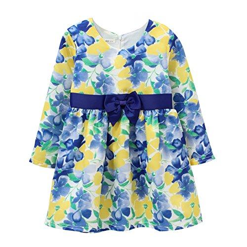 inlese Gedruckt Blumenkleider Partykinder Kinder Kleidung Hochzeit (3-4 Jahre / 110cm, CDW15021) (Kleine Kinder Bekleidungsgeschäfte)