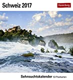 Schweiz - Kalender 2017: Sehnsuchtskalender, 53 Postkarten