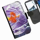 Hairyworm- Blumen Seiten Leder-Schützhülle für das Handy Sony Xperia Z (C6603, C6602)