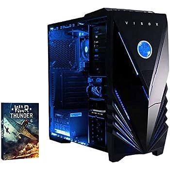 VIBOX Cerulean - Ordenador para gaming (AMD A10-6800K, 8 GB de RAM, 1 TB de disco duro, AMD Radeon HD 8670D) color neón azul
