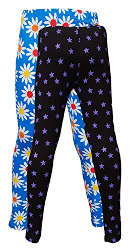 Little Stars Girls' Cotton Regular Fit Leggings- Pack of 2 (Po2Gpl_3221_26, Multi-Colour, 5-6 Years)  available at amazon for Rs.349