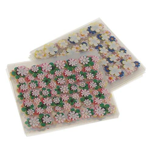 Sharplace 50 Hojas 3D Flor Pegatinas Etiquetas Engomadas