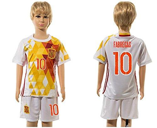20162017Super beliebtes Spanien 10Cesc Fabregas Trikot Away für Kinder Kid Jugend Fußball Soccer Jersey Sets in weiß XX-Small weiß