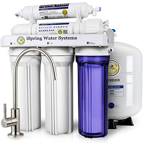 Sistema de filtrado de agua por ósmosis inversa iSpring 75GPD modelo rcc7