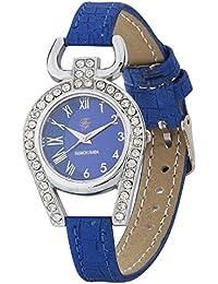 Fashion Fanda FF-001110 Blue Diamond Coloured With Blue Artificial Leather Strap Quartz Watch For Women