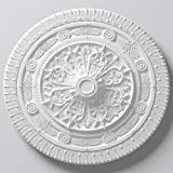 ARSTYL R25 - Moldura decorativa redonda (para interiores, diámetro: 965 mm), color blanco