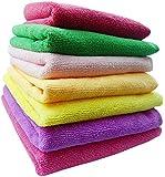 More Care 5 Pcs Mixed Colour Microfiber Car Cleaning Towel Kitchen Washing Polishing Cloth