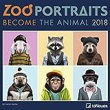 Zoo Portraits 2018 - Tierkalender, Humor, Broschürenkalender - 30 x 30 cm