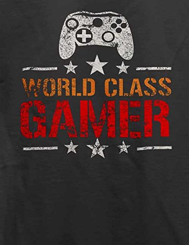 World Class Gamer Vintage T-Shirt Grau