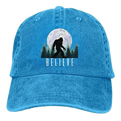 UUOnly Glauben Sie Bigfoot Moon Cowboys Baseball Caps für Herren Trucker Style Hut -