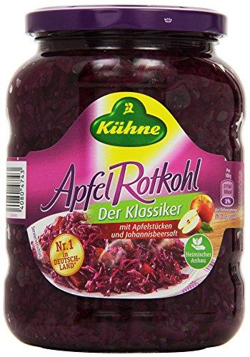 Kühne Apfel-Rotkohl im Glas - Der Klassiker, 650 g