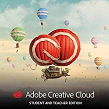 Adobe Creative Cloud, Student & Teacher License (12-Month License) (PC/Mac) [Download]