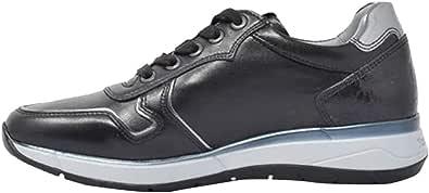 Nero Giardini Sneaker Pelle Laminata Piombo