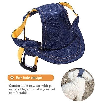 UEETEK Pet Dog Puppy Baseball Cap Visor Hat Sunhat Adjustable Chin Strap Sunbonnet 4