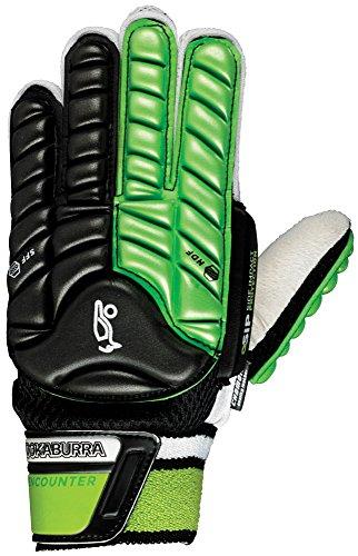 Kookaburra  Unisex Encounter Hand Guard L L/H Hockey Protective Equipment, Black/Lime, Large